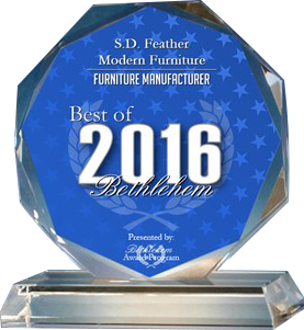 Lehigh Valley Custom Furniture, Best of Bethlehem 2016 S.D. Feather Modern Furniture