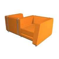 custom metal furniture, custom sofa, S.D. Feather Lcubed Custom Sofa