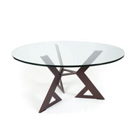 Custom Modern Furniture, custom metal, steel coffee table with glass top, S.D. Feather Wedge coffee table