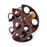 custom metal wine rack, S.D. Feather Orb Custom Wine rack
